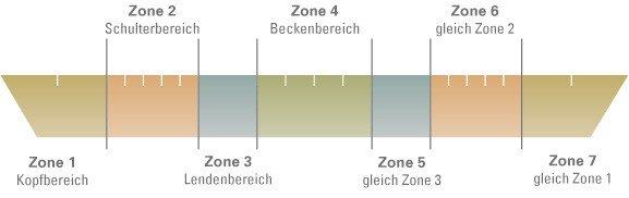7 zonen kaltschaummatratze  Kaltschaummatratze für Wasserbetten mit 7 Zonen online kaufen