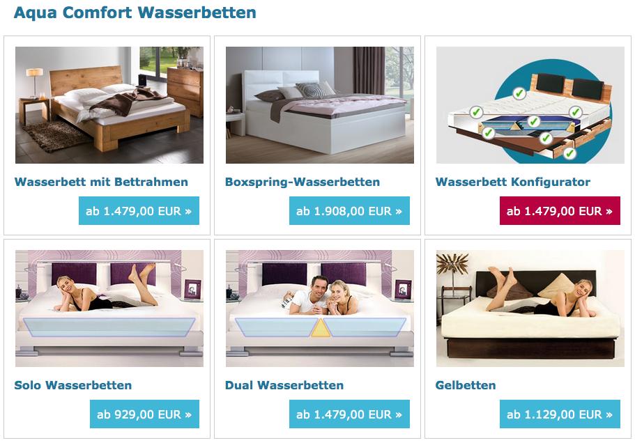 aqua comfort wasserbett angebot aqua comfort. Black Bedroom Furniture Sets. Home Design Ideas