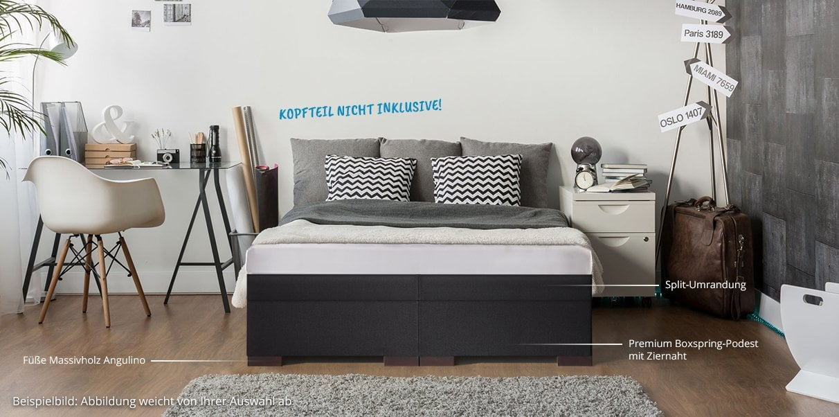 boxspring wasserbett dual online kaufen bei aqua comfort. Black Bedroom Furniture Sets. Home Design Ideas