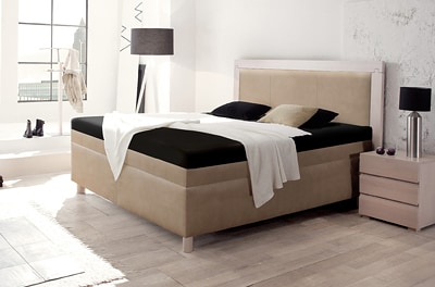 boxspring wasserbett mit st moritz massiva kopfteil kaufen. Black Bedroom Furniture Sets. Home Design Ideas