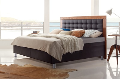 boxspring wasserbett mit torino massiva kopfteil kaufen. Black Bedroom Furniture Sets. Home Design Ideas