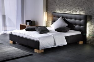 polsterbetten aus kunstleder echtleder oder stoff kaufen aqua comfort. Black Bedroom Furniture Sets. Home Design Ideas