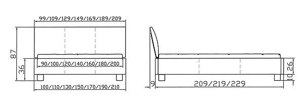 aprino polsterbett mit kopfteil ripo von hasena online kaufen. Black Bedroom Furniture Sets. Home Design Ideas