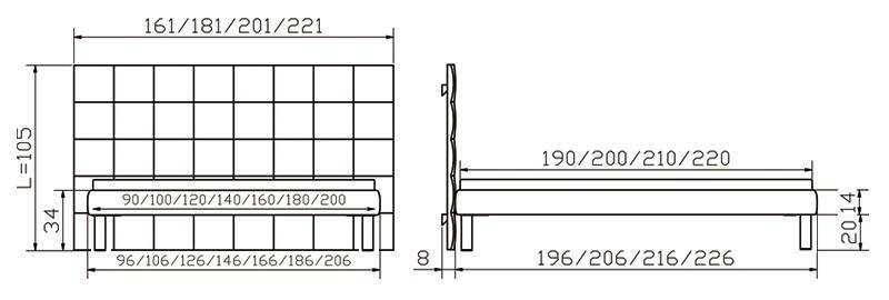 noble 14 bett mit sogno l wandpaneel softline von hasena kaufen. Black Bedroom Furniture Sets. Home Design Ideas
