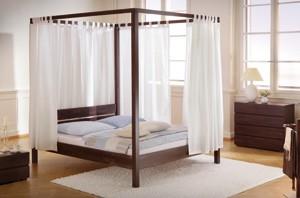 wasserbett himmelbett aus holz und metall jetzt online kaufen. Black Bedroom Furniture Sets. Home Design Ideas