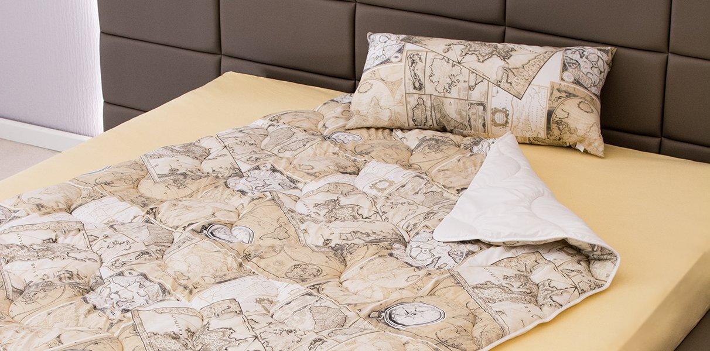 bedrucktes bettdecken und kissen set globetrotter kaufen. Black Bedroom Furniture Sets. Home Design Ideas