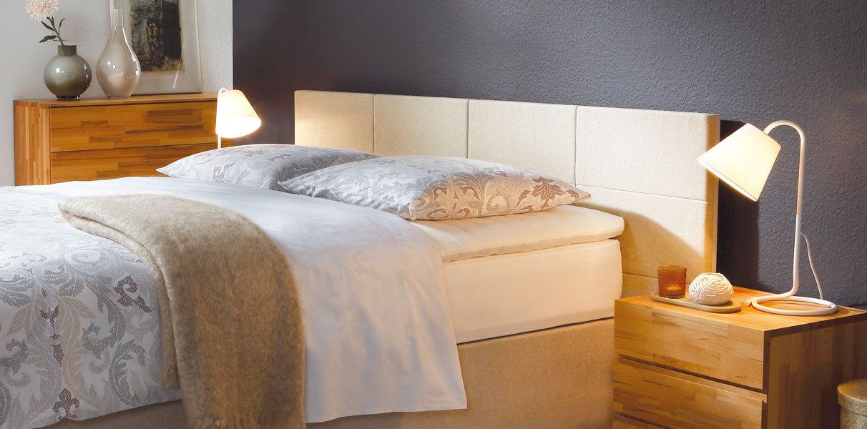boxspring gelbett mit opio 2l wandpaneel kaufen. Black Bedroom Furniture Sets. Home Design Ideas