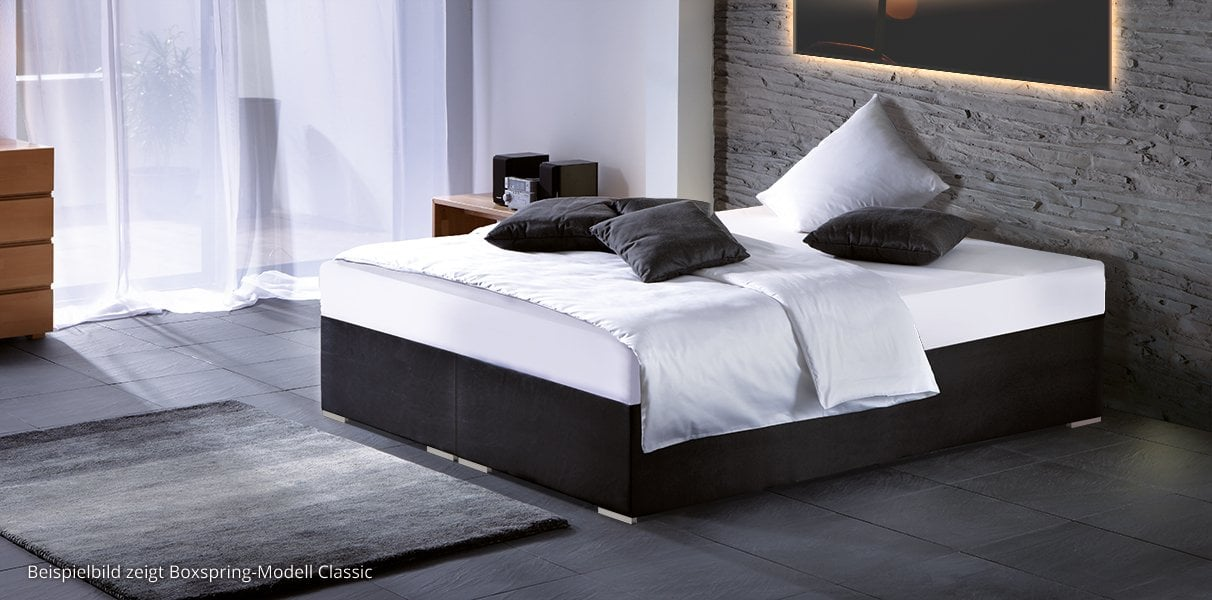 wasserbett in boxspring optik online kaufen aqua comfort. Black Bedroom Furniture Sets. Home Design Ideas