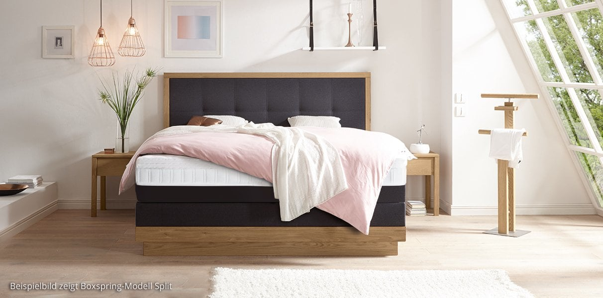 boxspring wasserbett mit artino elegant kopfteil kaufen. Black Bedroom Furniture Sets. Home Design Ideas