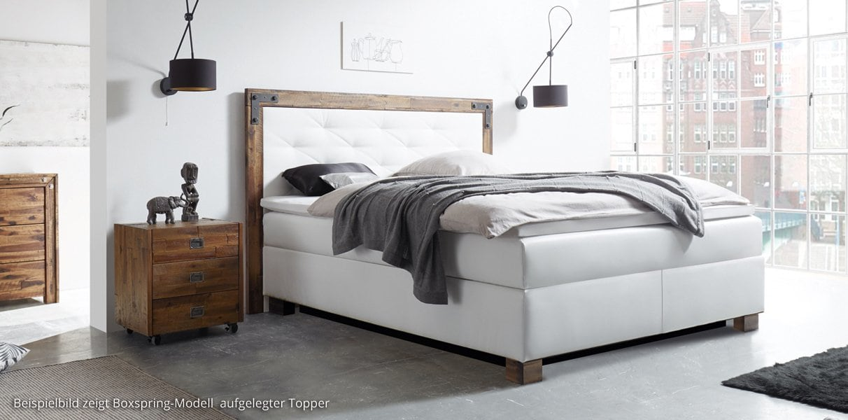boxspring wasserbett mit factory india kopfteil kaufen. Black Bedroom Furniture Sets. Home Design Ideas