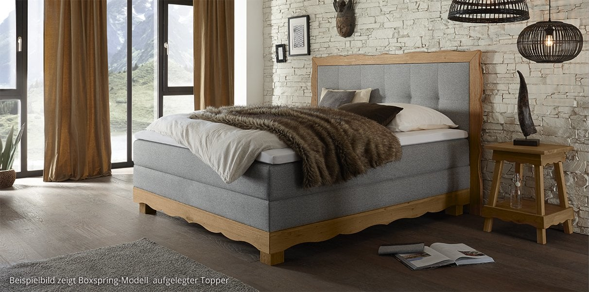 boxspring wasserbett mit arosa romantic kopfteil kaufen. Black Bedroom Furniture Sets. Home Design Ideas