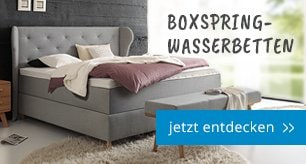 Wasserbetten in Boxspringbett Optik