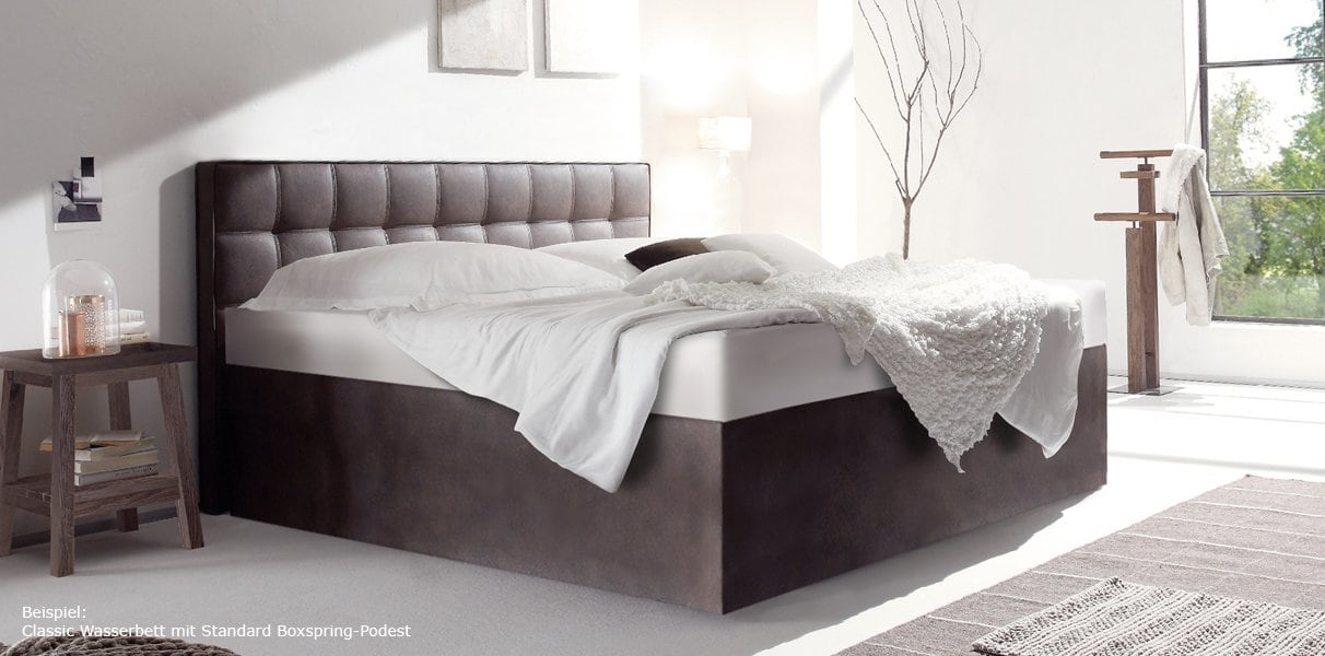 boxspring wasserbett mit lille l classic kopfteil kaufen. Black Bedroom Furniture Sets. Home Design Ideas