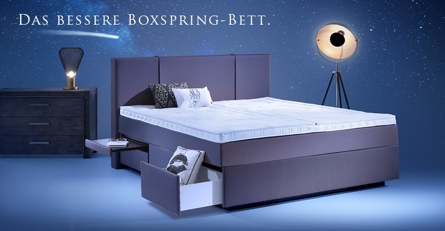 boxspring wasserbetten mit schubladen aqua comfort. Black Bedroom Furniture Sets. Home Design Ideas