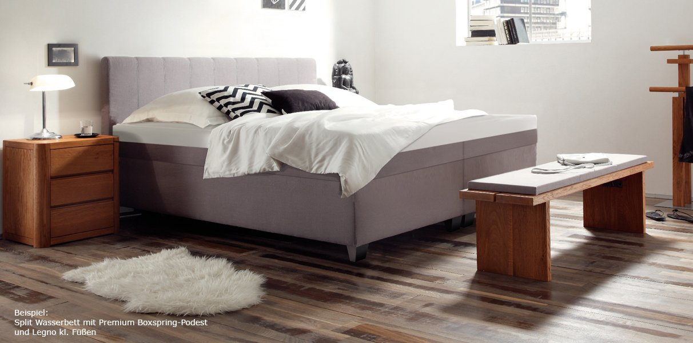 boxspring wasserbett mit nizza l kopfteil kaufen. Black Bedroom Furniture Sets. Home Design Ideas