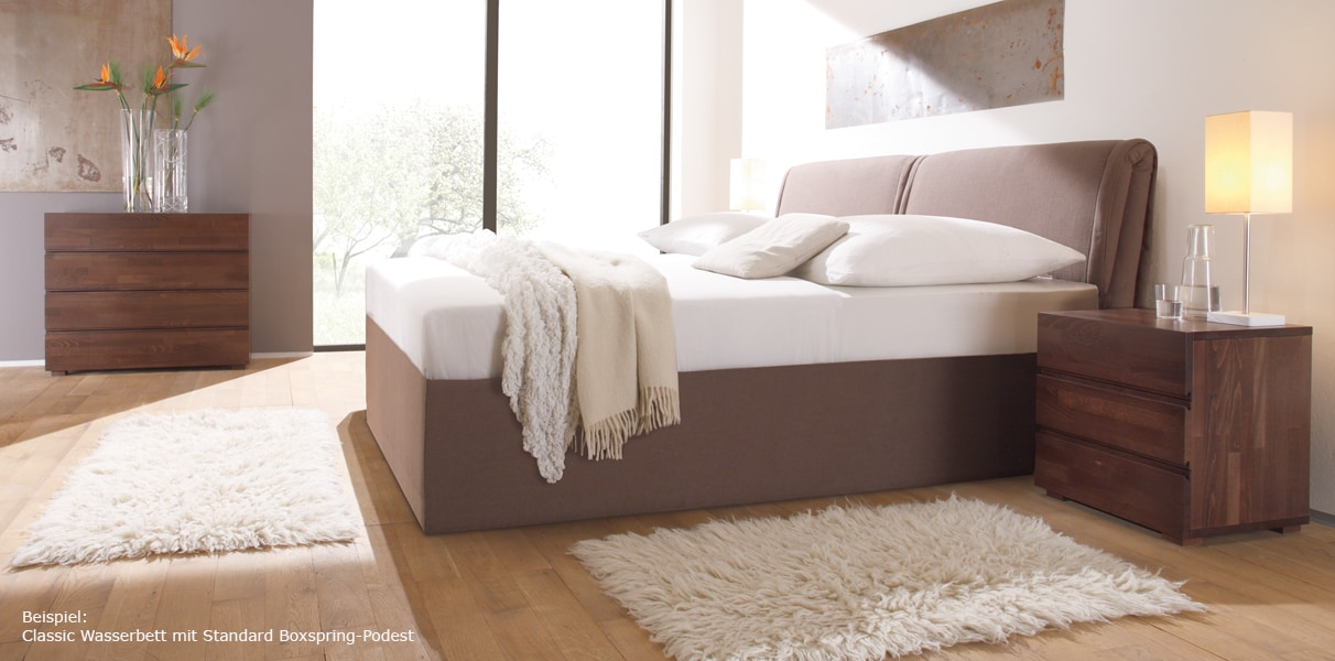 boxspring wasserbett riposo mit kopfteil online kaufen aqua comfort. Black Bedroom Furniture Sets. Home Design Ideas