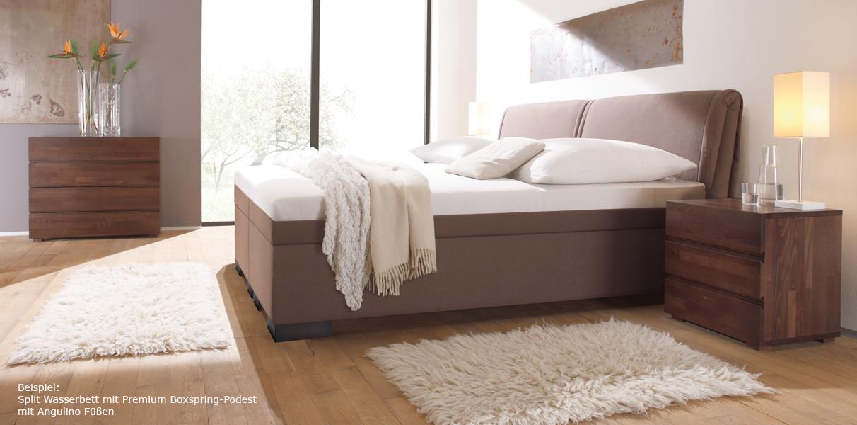 boxspring wasserbett riposo mit kopfteil online kaufen aqua comfort. Black Bedroom Furniture Sets. Home Design Ideas