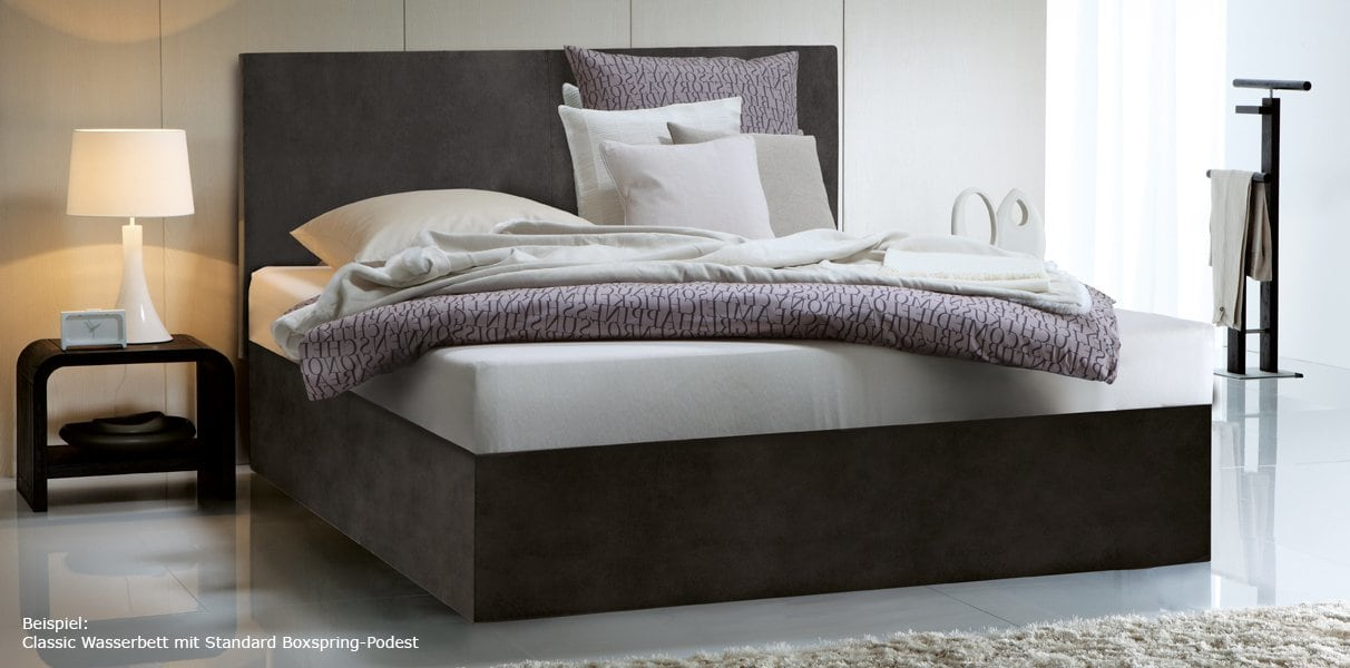 wasserbett in boxspring optik mit saia wandpaneel online kaufen. Black Bedroom Furniture Sets. Home Design Ideas