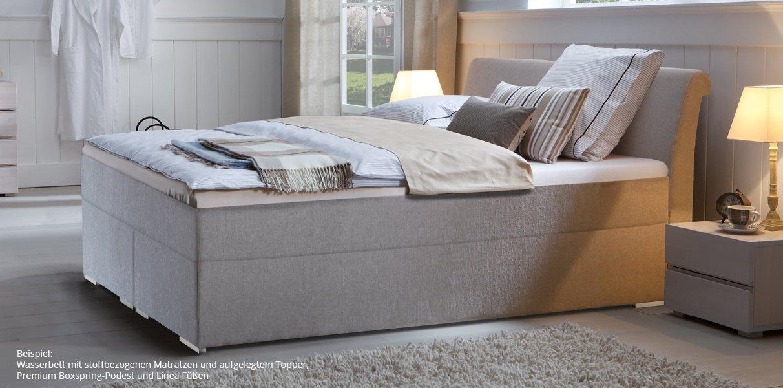 boxspring wasserbett mit zamo kopfteil online kaufen aqua comfort. Black Bedroom Furniture Sets. Home Design Ideas
