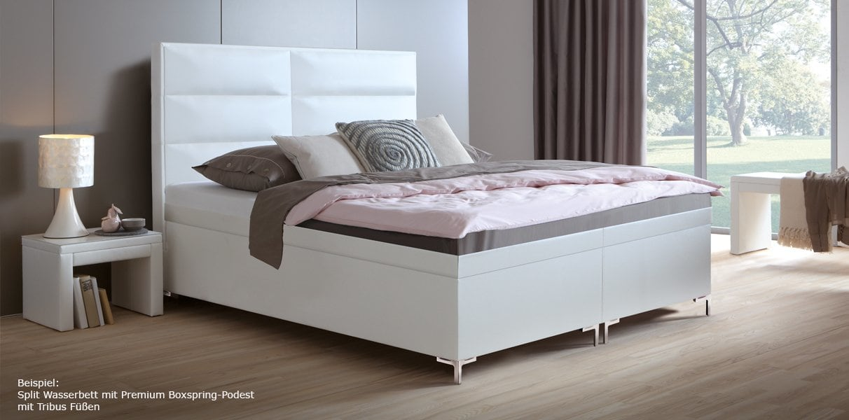 boxspring wasserbett mit zebo l kopfteil online kaufen aqua comfort. Black Bedroom Furniture Sets. Home Design Ideas