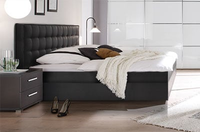 boxspring wasserbett mit zoja l kopfteil online kaufen aqua comfort. Black Bedroom Furniture Sets. Home Design Ideas