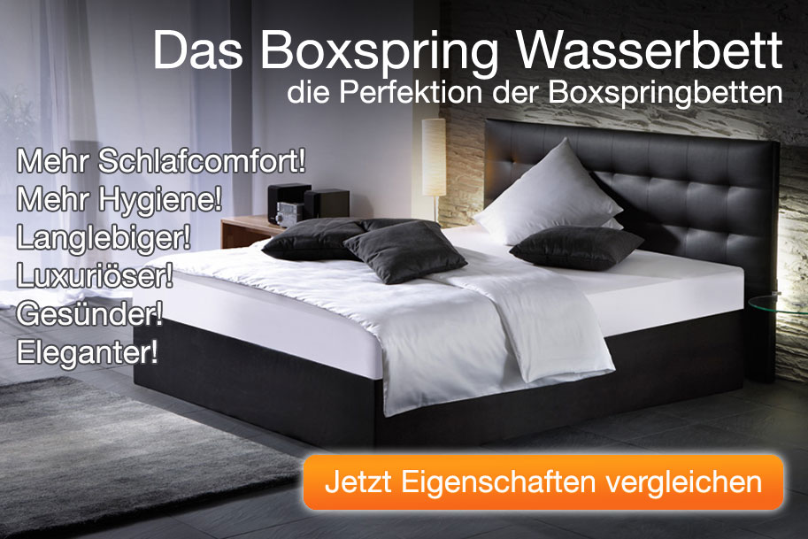 ein boxspring wasserbett verbindet alle vorteile eines wasserbettes. Black Bedroom Furniture Sets. Home Design Ideas