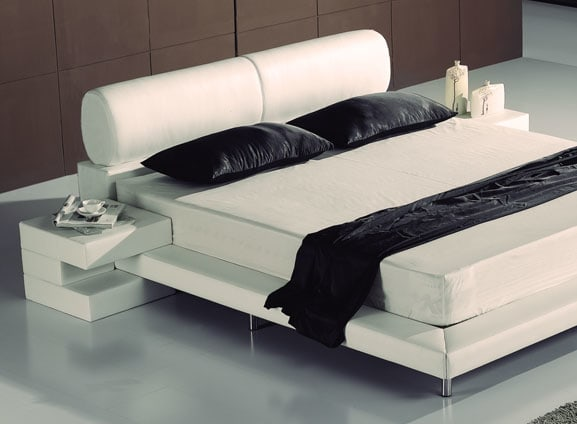 lederbett modern aus echtleder mit kopfteil kaufen aqua comfort. Black Bedroom Furniture Sets. Home Design Ideas