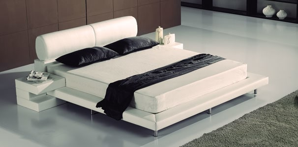 lederbett modern aus echtleder mit kopfteil kaufen aqua comfort. Black Bedroom Furniture Sets. Home Design Ideas