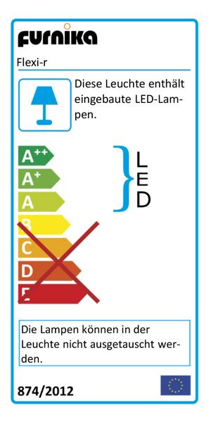 Energieeffizienzklasse der Cricle-Light Leselampe
