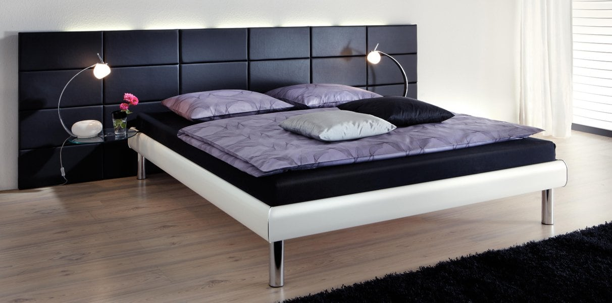 opio l softline holzdekor bett mit wandpaneel online kaufen aqua comfort. Black Bedroom Furniture Sets. Home Design Ideas