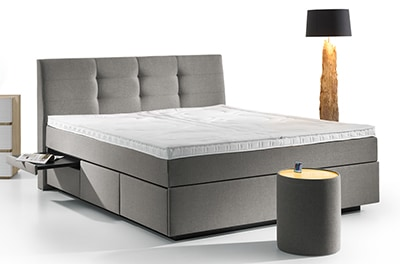 boxspring wasserbett barcelona mit schubladen online kaufen aqua comfort. Black Bedroom Furniture Sets. Home Design Ideas
