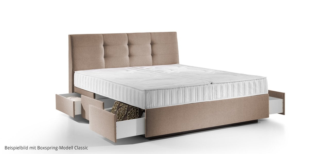 boxspring wasserbett madrid mit schubladen online kaufen aqua comfort. Black Bedroom Furniture Sets. Home Design Ideas