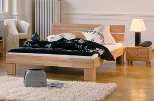 bettrahmen aus massivholz metall leder oder polster kaufen. Black Bedroom Furniture Sets. Home Design Ideas