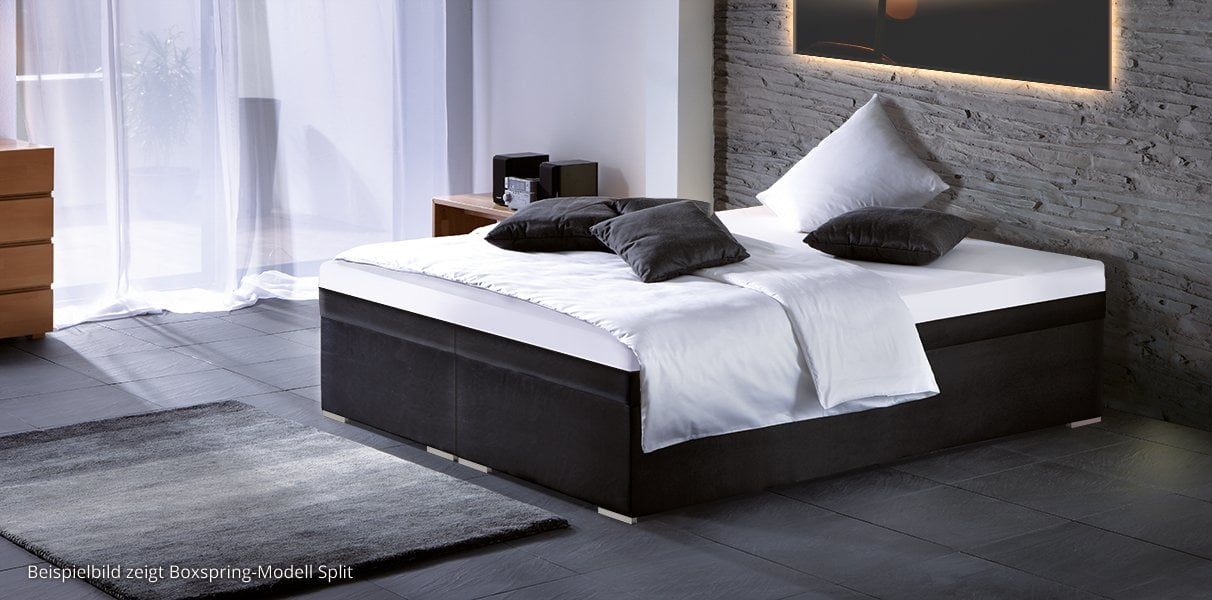 boxspring wasserbett podest in hoher ausf hrung kaufen. Black Bedroom Furniture Sets. Home Design Ideas