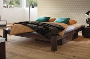 schn ppchen massivholz bettgestell woodline inkl f e. Black Bedroom Furniture Sets. Home Design Ideas