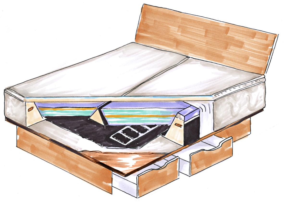 was kostet ein wasserbett. Black Bedroom Furniture Sets. Home Design Ideas