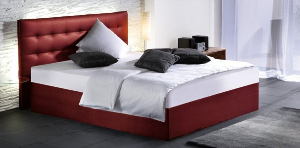 wasserbett mit boxspring podest wandpaneel online kaufen. Black Bedroom Furniture Sets. Home Design Ideas