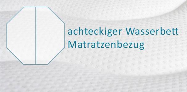 matratzenbezug f r wasserbetten achteckige auflage kaufen aqua comfort. Black Bedroom Furniture Sets. Home Design Ideas