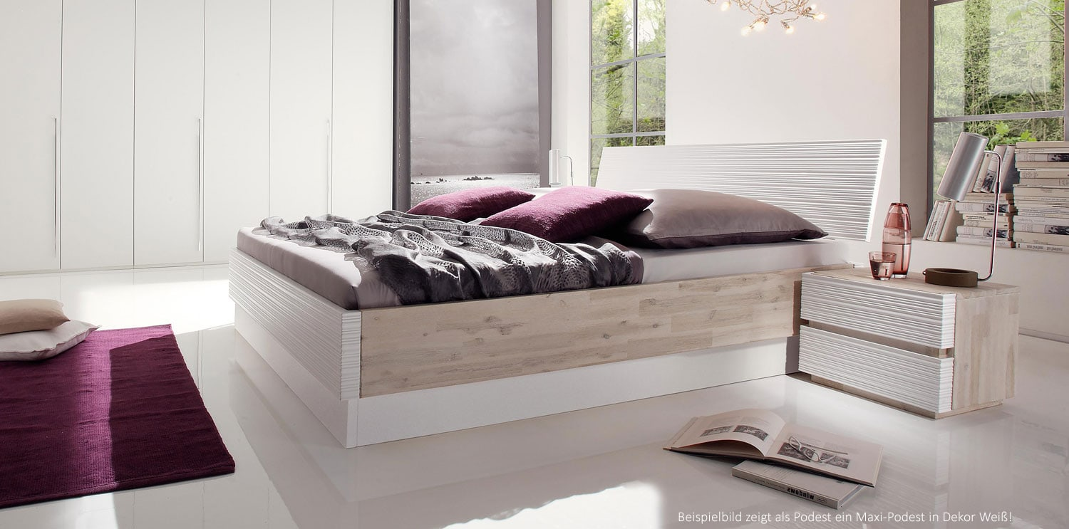 coast massivholz akazie wasserbett mit kopfteil online kaufen. Black Bedroom Furniture Sets. Home Design Ideas