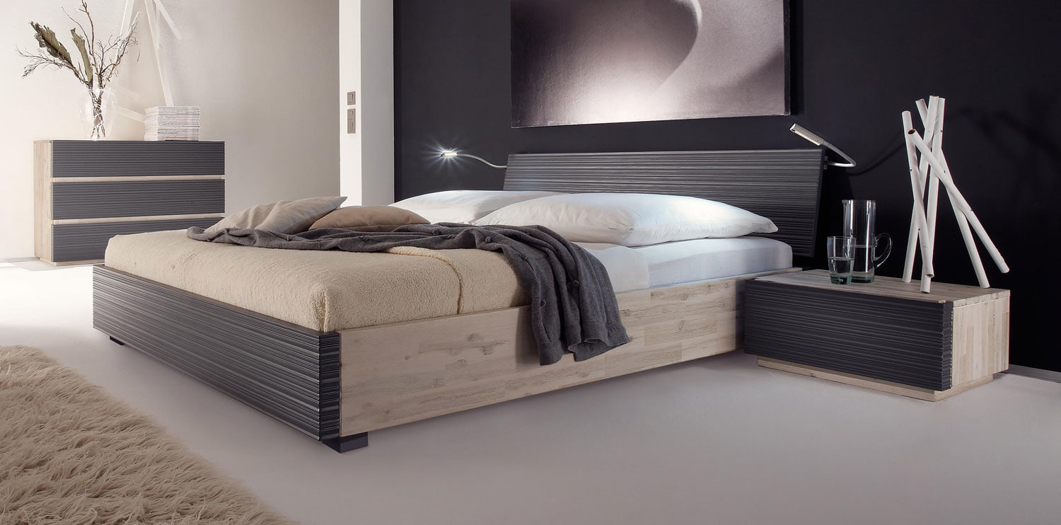 coast massivholz akazie bett mit wasserbett online kaufen. Black Bedroom Furniture Sets. Home Design Ideas