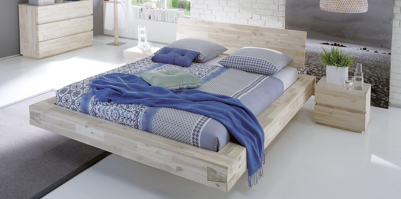 Coast Massivholz Akazie Bett mit Wasserbett online kaufen
