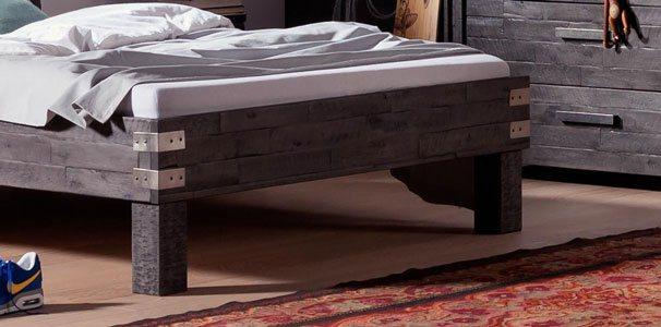 akazie massivholz bett arcada mit wasserbett online kaufen. Black Bedroom Furniture Sets. Home Design Ideas