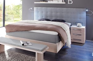 wasserbett woodwild mit sogno xl wandpaneel online kaufen. Black Bedroom Furniture Sets. Home Design Ideas