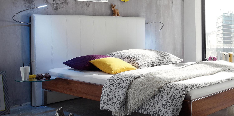 wasserbett aus holzdekor mit colina wandpaneel online kaufen. Black Bedroom Furniture Sets. Home Design Ideas