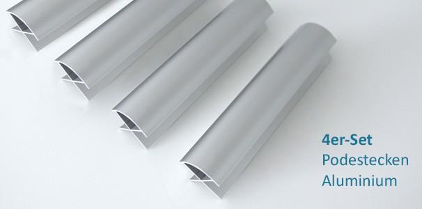aluminium eckprofile f r wasserbett podest im 4er set kaufen. Black Bedroom Furniture Sets. Home Design Ideas
