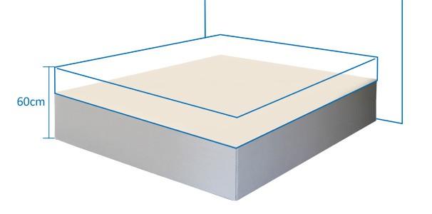 boxspring wasserbett podest in hoher ausf hrung kaufen aqua comfort. Black Bedroom Furniture Sets. Home Design Ideas
