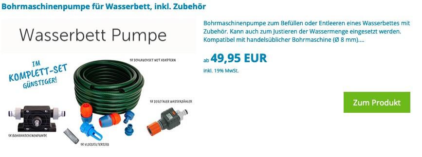 Wasserbett Pumpe Online Leihen Vakuumpumpe Zum Entleeren Mieten