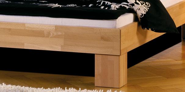 massivholz bett mit kopfteil und wasserbett online kaufen aqua comfort. Black Bedroom Furniture Sets. Home Design Ideas