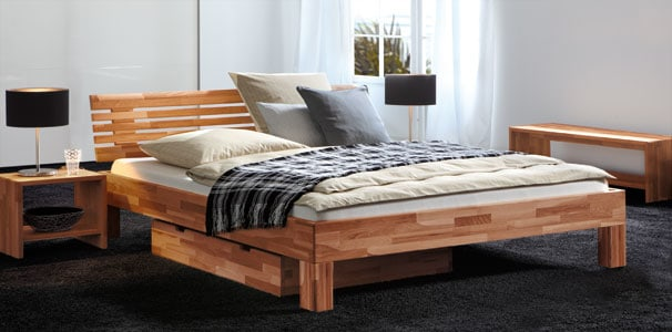 classic 16 buche bett mit litto kopfteil wood line von. Black Bedroom Furniture Sets. Home Design Ideas