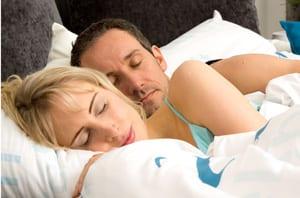 Schlaf auf Wasserbett